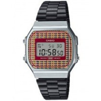 Casio Vintage A168WEFB-5AEF Check pattern dial