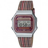 Casio Vintage A168WEFL-5AEF Check pattern dial