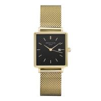 Rosefield The Boxy Zwart-Goud Horloge 33mm