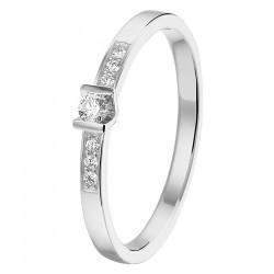 NL Ring diamant 0.085ct H SI